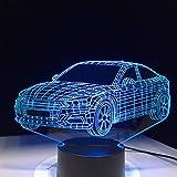 Auto Form Lampe Batterie Nachtlicht Acryl Kinder Lava Lampe Farbe Touch Tischlampe schnelle Drop-Transport