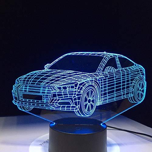 Lámpara de Forma de Coche batería luz Nocturna acrílico lámpara de Lava para niños Color lámpara de Mesa táctil Transporte de caída rápida
