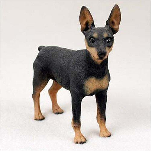 Conversation Concepts Miniature Pinscher, Black/Tan Original Dog Figurine (4in-5in)