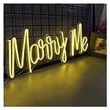 WMLWML Letrero de neón Personalizado Logotipo de luz Cásate Conmigo 3D Impermeable Led Flex Tablero de Letras acrílico Transparente Fondo de Fiesta Decoración de Boda (Color : AU)