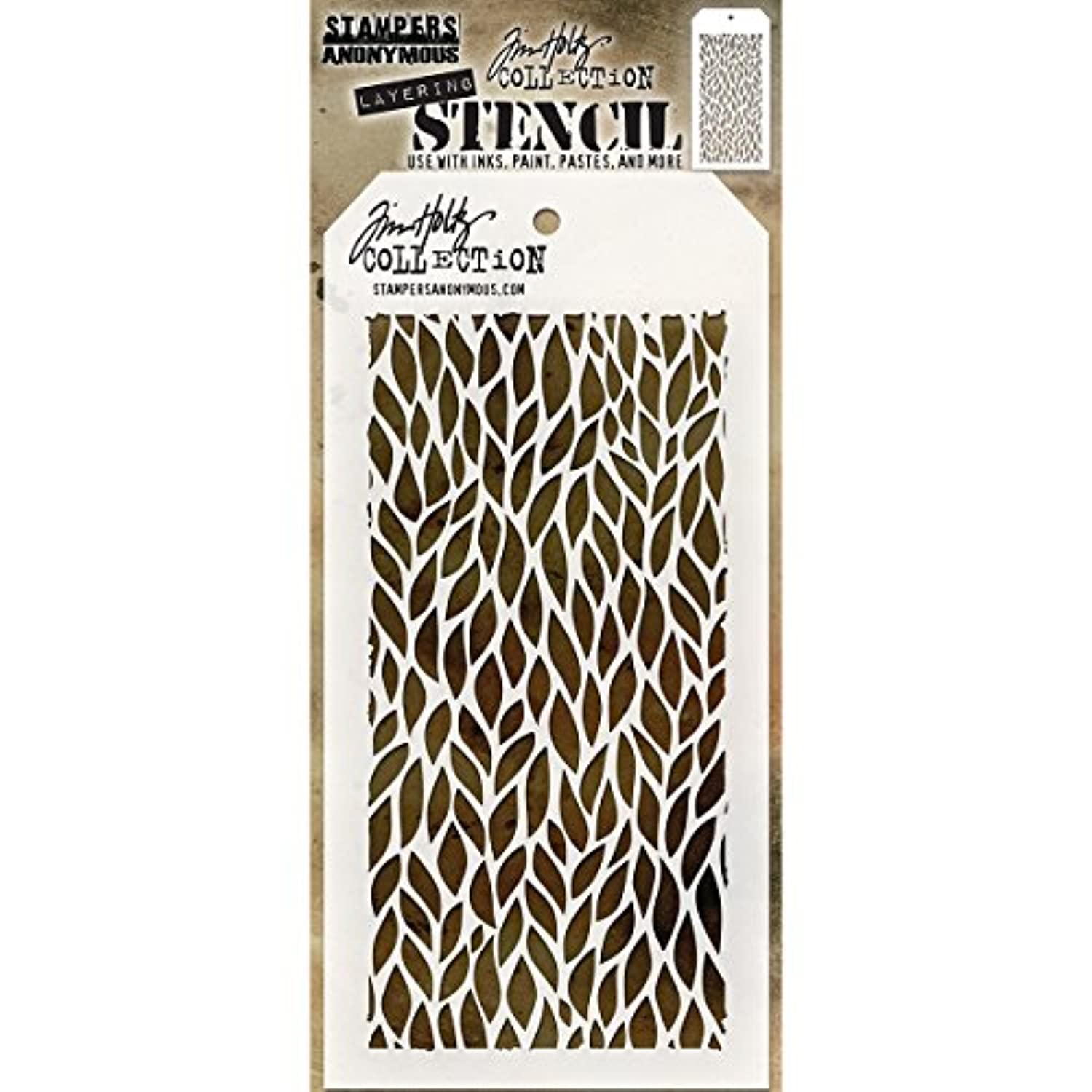 Stampers Anonymous THS078 Tim Holtz Layered Stencil 4.125