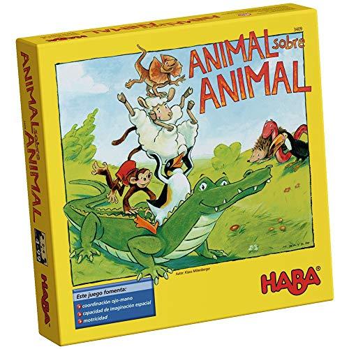 Outletdelocio. Juego de Mesa Haba. Animal Sobre Animal. Edicion en Castellano