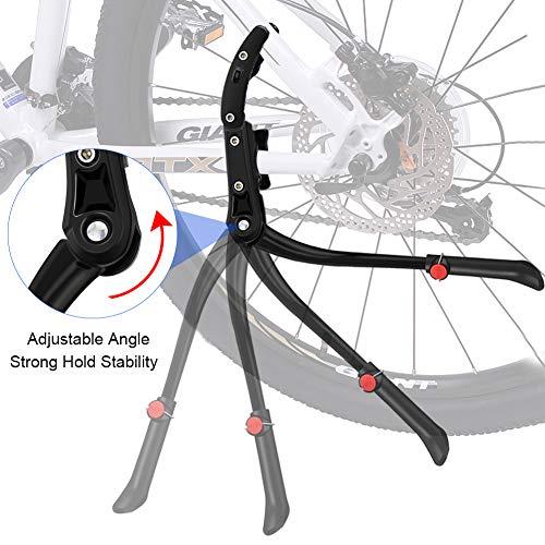 DIAOCARE Fahrradständer, Seitenständer Fahrrad Universal Aluminiumlegierung Fahrrad Ständer Rutschfester Gummiständer für 24-29 Zoll, Mountainbike, Rennrad, Fahrräder und Klapprad, Höhenverstellbar - 5