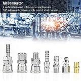 Herramienta neumática neumática de hierro de alto rendimiento, conector de aire, adaptador de 18 piezas de 8 mm para piezas de hierro neumáticas del conjunto de montaje de la industria