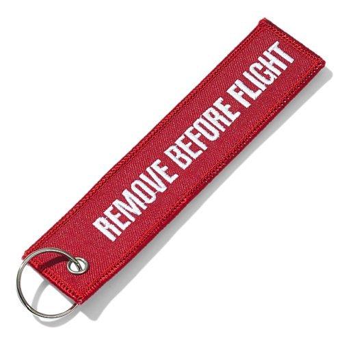 Étiquette «Remove Before Flight» pour bagage / porte-clés / Lot de 2 / multicolore, Red (rouge) - PSH002