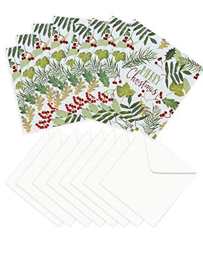 Liefdadigheid Kerst Kaarten - Pack van 8 Liefdadigheid Kerstmis Kaarten - Kerst Kaarten Liefdadigheid Pack - Liefdadigheid Kerst Kaarten Mulipack - Kerst Wensen Kaarten Multipack