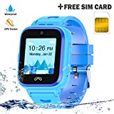 Kids Smartwatch Phone 4G with Sim Card, Anti-Lost WiFi LBS GPS Tracker Game Watch Waterproof for...