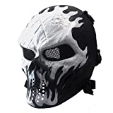 6. Anyoupin Paintball Mask,Skull Full Face Airsoft Mask with Mesh Army Fans Supplies M06 Tactical Mask for Halloween Paintball Airsoft CS Game Cosplay and Party WI
