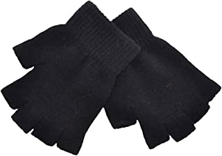 Cren Women Men Half Finger Gloves Winter Warmer Knitted Mittens Fingerless