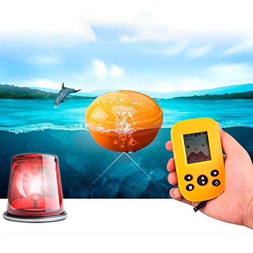 Jacksking Fishfinder ecoscandaglio, ecoscandaglio Portatile Fish School Visual Wireless Fishfinder Fishfinder Pesca con Display LCD