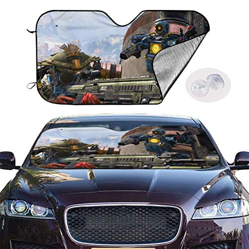 JKKSA Parasol Protector Solar para la Parabrisa Delantera del Coche Apex Legends Fun Auto Shield Cover Sun Shade for Windshield UV Sun and Heat Reflector