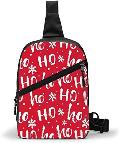 Bolsa bandolera de Navidad Santa Laugh Hohohoho para llevar al aire libre, senderismo, viajes, bolsa de bolsillo personal para mujeres, hombres, resistencia al agua