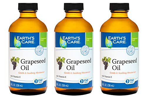 Earth's Care Grapeseed Oil 8 Fl. Oz.-lot of 3 Bottles by Earth's Care