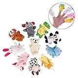 TOYZHIJIA 10 Tierfingerpuppen Spielzeugset Kinderfingerpuppen