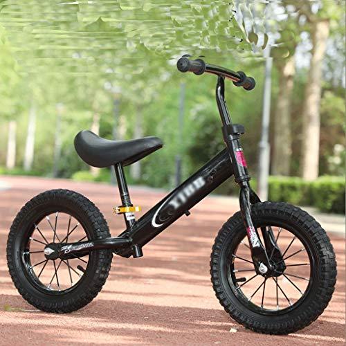 UNU_YAN Gleichgewicht Auto Scooter 1-3-6 Jahre alt Kinderkindergarten-Kind-Roller mit Zwei Rädern versehenen Licht kein Pedal-Gleichgewicht Auto (Color : Black)