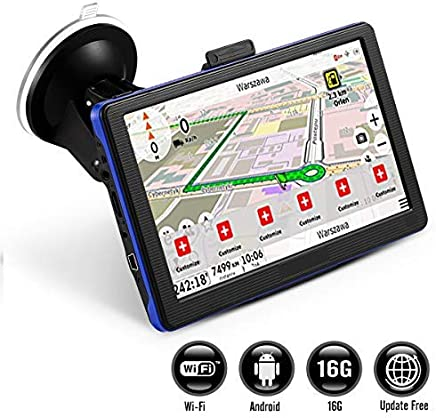 GPS Navigation for Car, Prymax 7 Inch GPS Navigator with 16GB Memory, Free Lifetime Traffic & World Maps, WiFi-Connectivity, Driving Alarm, Voice Steering