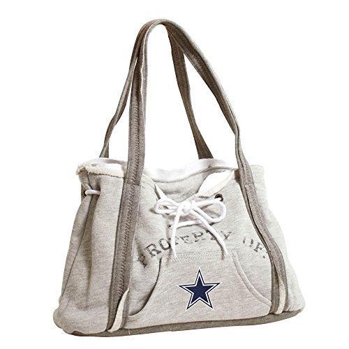 "Littlearth Womens NFL Dallas Cowboys Hoodie Purse, Gray, 9.5"" H x 15.5"" W x 4"" D"