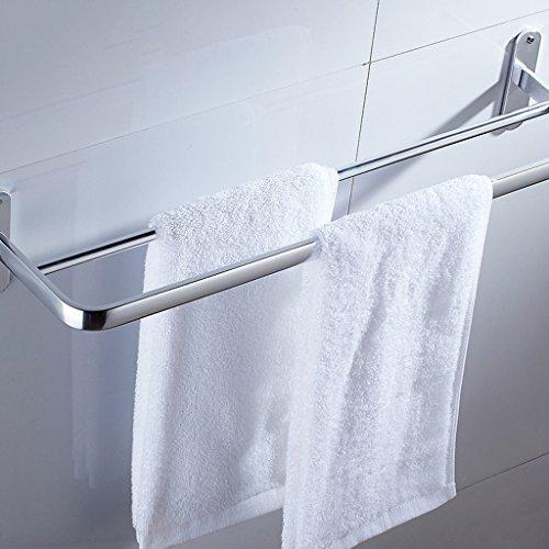 Espace de poinçonnage gratuit Porte-serviettes en aluminium/salle de bains (Couleur : Silver)