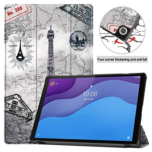 RZL Pad y Tab Fundas para Lenovo Tab M10 HD (2nd Gen) TB-X306F, Estampado Auto Wake Up/Sleep Tablet Cover Folio Flip Tablet Funda para Lenovo Tab M10 10.3' (Color : N6)