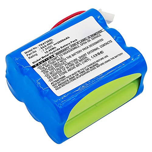 subtel® Qualitäts Akku kompatibel mit TDK Life on Record A73, A73 Boombox, 6AA-HHC 2000mAh Ersatzakku Batterie