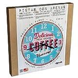 Arenart   1 Reloj Coffee Ø38 cm  para Pintar con Arenas de