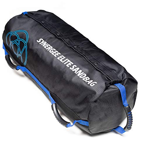 Synergee Elite Buff Blue Adjustable Fitness Sandbag with (4) Filler Bags 25-100lbs - Heavy Duty