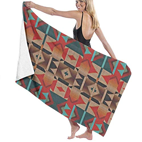 Yaxinduobao Native American Indian Tribal Mosaic Rustic Cabin Pattern Soft Serviette de Bain Highly Absorbent Multipurpose Towels Oversized Serviette de Plage for Travel Bathroom Gym Spa 31\