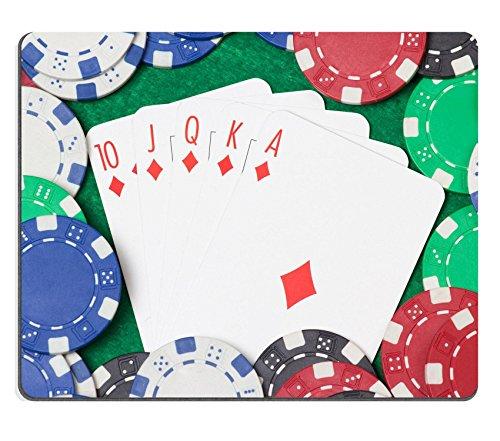 Luxlady Gaming Mousepad foto ID: 24878434 royal flush combinazione e poker chips il casinò da tavolo, colore: verde