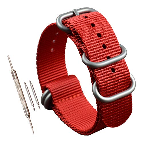 23mm nylon estilo ZULÚ reemplazo correa banda reloj