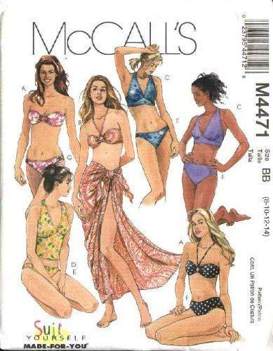 McCall 's patrón de costura 4471para tamaño 6–12dos piezas Trajes de baño...