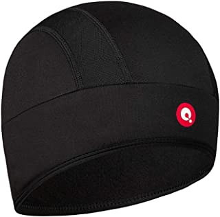 Skull Cap - Cycling Bike Helmet Liner - Running Beanie Thermal Hat - with Moisture Wicking. Fits Under Helmets Black