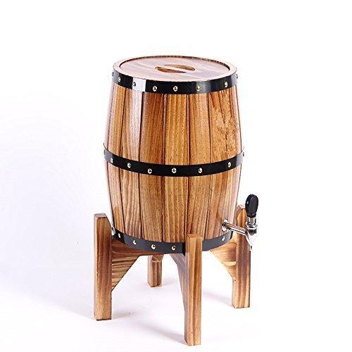 SKSNB Barriles de Vino Verticales para almacenar Cerveza de Barril Forro de Acero Inoxidable Enfriamiento de Vino Barriles de Roble con botellero Bar Cañón de Vino - 5L Marrón