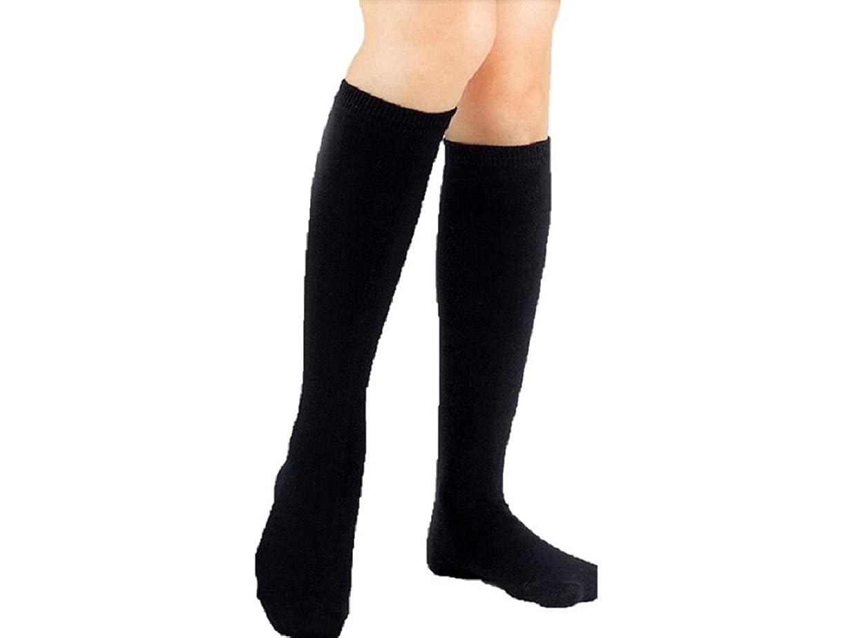 トレッド衣装アーティストオリーブサラ ハイソックス 黒 無地 着圧タイプ OLさん御用達の美脚ハイソックス 抗菌防臭 冷えとりにも