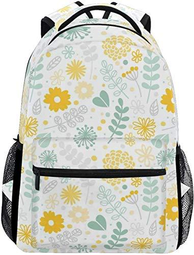 Mochila Mochila Escolar Laptop Country Garden Girasoles Florales Pastoral Linda Una Mochila Ligera Y Práctica para Adolescentes, Niños Y Niñas