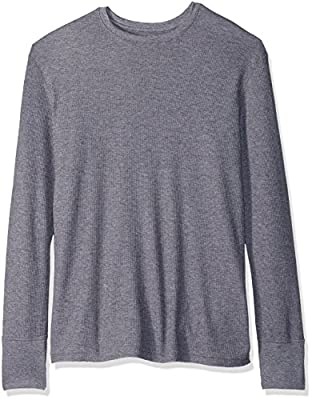Fruit of the Loom Men's Premium Natural Touch Thermal Top, Charcoal Grey Heather, Medium
