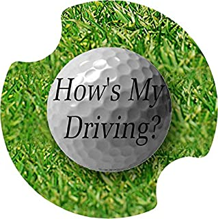 Thirstystone How's My Driving Car Cup Holder Coaster, 2-Pack