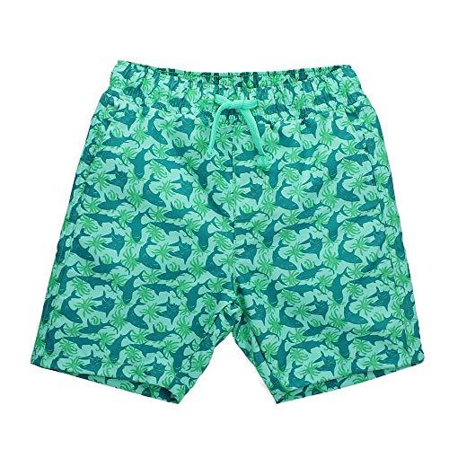 LACOFIA Pantaloncini da Bagno per Bambino Costume da Bagno da Spiaggia Elasticizzato in Vita da Bambini Verde 5-6 Anni