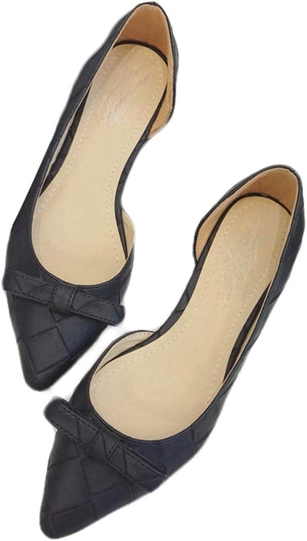 August Jim Black Flats shoes Women Pointed Toe Flat Comfort Dress shoes