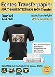 TransOurDream ECHTE Inkjet Transferpapier Bügelfolie für Dunkle Textilien,DIN A4X7 Blatt,Transferfolie,Bügelpapier für Tintenstrahldrucker,Bedruckbare Textilfolie,Bilder zum Aufbügeln (3-7)