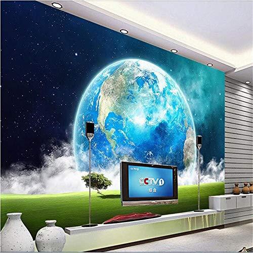 Mural Fotomural Papel Pintado De Gama Alta Personalizado Mural No Tejido Etiqueta De La Pared Universo 3D La Tierra Cielo Pintura Foto Pared De La Pared 3D Murales Wallpaper @ 200 * 140 Cm