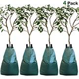 MorTime 4PCS Tree Watering Bag, 20 Gallon Slow Release Watering Bag for Trees, Tree Irrigation Bag Made of Durable PVC Material with Zipper, 5-8 Hours Releasing Time