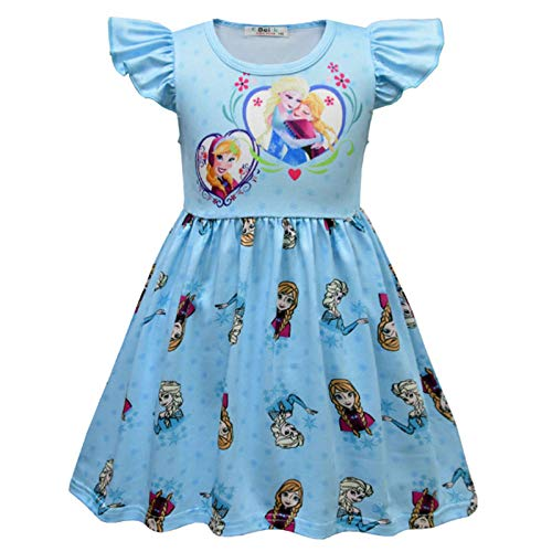 2020 verrassing Cartoon Girl Dress Feifei mouw melk ijs zijde baby rok pyjama kinder rok-3963_100cm
