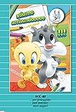 Tarjeta Felicitación cumpleaños con Imán Bugs Banny Piolín y gato Silvestro Baby Looney Tunes Warner Bros