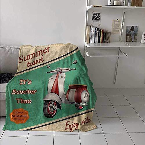 Nazi Mie Weinlese-Muster-Decken-Roller-Motorrad-Sommer-Reise-Italienischer Stadt-Anblick-Hippie genießen Fahrflanell-Decke