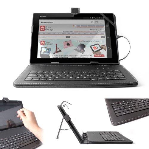 DURAGADGET Funda/Teclado ESPAÑOL con Letra Ñ para Sony Xperia Z - con Conexión MicroUsb + Lápiz Stylus