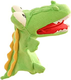 AUCH Plush Crocodile Hand Puppet Alligator Animal Toy Stocking for Role Play, Animal Toy for Storytelling Teaching Puppet ...