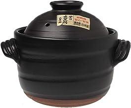 Klei rijstpot Japanse rijstkoker met dubbele deksel ronde keramische braadpan hittebestendige geglazuurde aardewerken pot ...