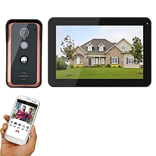 9 inch Wired WiFi Video Door Phone Doorbell Intercom Entry System with 1000TVL Wired IR- Cut Camera Night Vision Support Remote APP intercom Unlocking Recording Snapshot