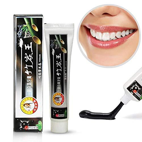 AIMERKUP Set per dentifricio e spazzolino da Denti a Carbone Attivo in Carbone di bambù per la Cura Orale Wonderful