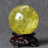 FTFTO Living Equipment Bola de Piedras Preciosas de Cristal Topacio Natural Bola de Cristal Adorno Bola de Cristal Adorno de Oficina en casa 6/8 cm Esfera de adivinación (tamaño: 8 cm)